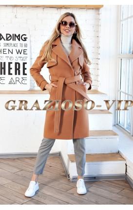Весеннее пальто цвета КЭМЕЛ
