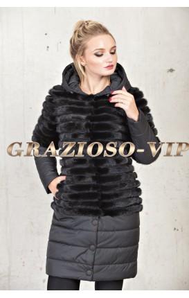 Модная куртка с норкой