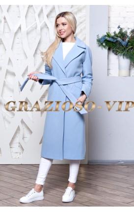 Весенее голубое пальто. Новинка!