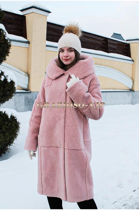 Модная зимняя шубка из шерсти