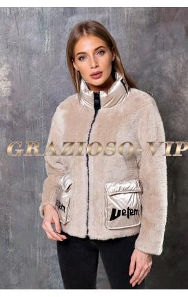 Короткая куртка из шерсти Тедди