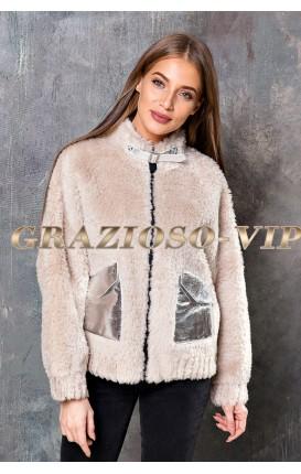 Модная куртка из овечьей шерсти