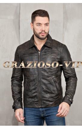 Кожаная модная куртка