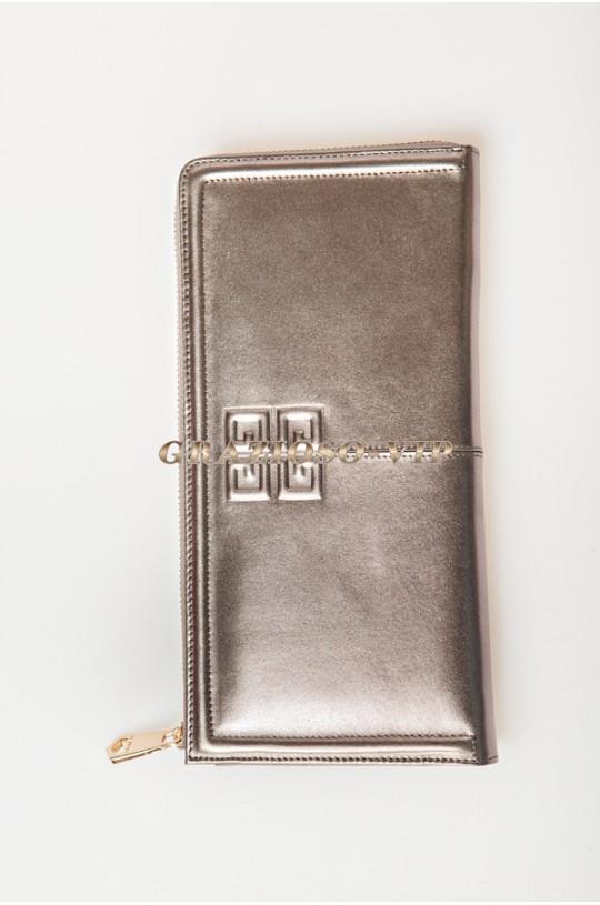 Кожаный клатч- кошелек