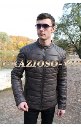 Молодежная кожаная куртка