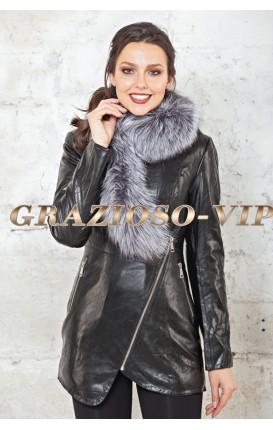 Модная черная куртка