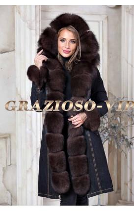 4f1e8ce1b4e Купить зимнюю женскую парку с натуральным мехом