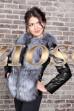 Куртка- трансформер с мехом чернобурки